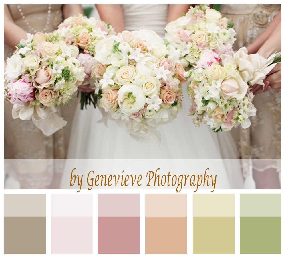 Summer wedding theme and colours | By Genevieve